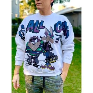 Vtg 1995 It's All Good Looney Tunes Sweatshirt